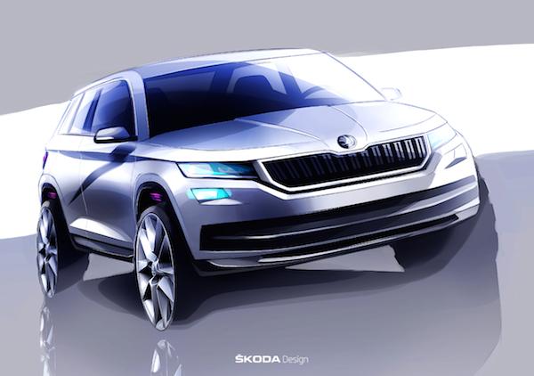斯柯达新SUV定名柯迪亚克 广州车展亮相明年上市