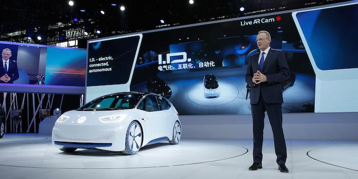 大众I.D.概念车正式亮相 代表电动车未来雏形
