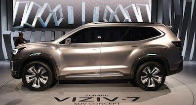 斯巴鲁7座SUV最新消息:或采用混合动力