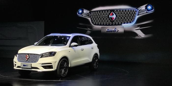 纯电动版车型 宝沃BXi7车型正式亮相