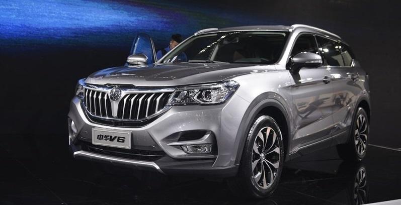 华晨中华V6预计售价区间为8.98-12.48万元
