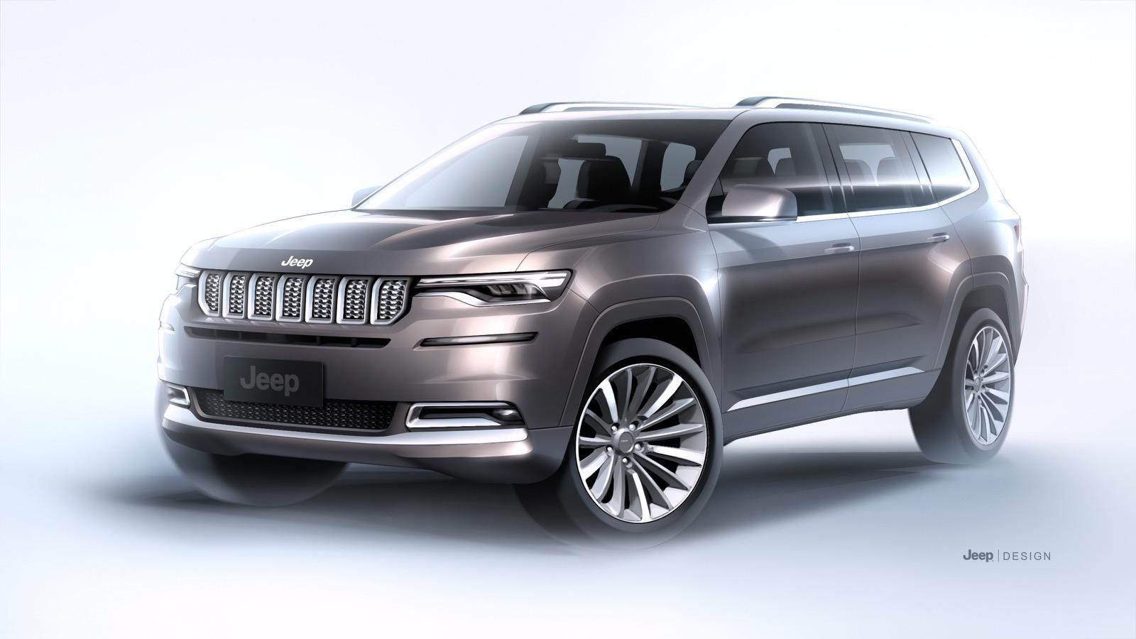 全新Jeep大指挥官官图发布 今年二季度正式上市