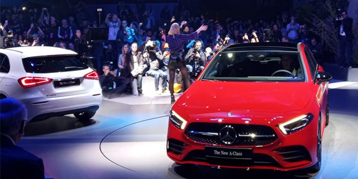 奔驰全新一代A级车全球首发 三厢车型将下半年国产