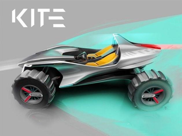 现代KITE电动概念车 2018日内瓦车展亮相