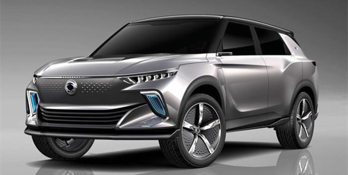 2018日内瓦车展 双龙发布e-SIV概念车