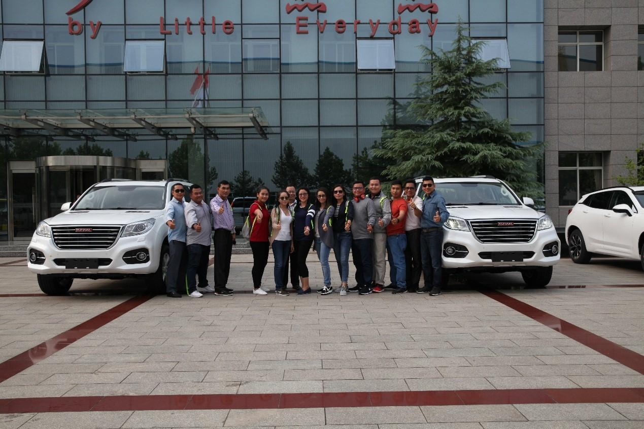 柬埔寨警方亲临长城汽车总部采购哈弗H9