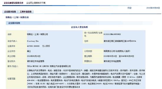资本增至46.7亿 特斯拉上海公司已经不缺钱了?