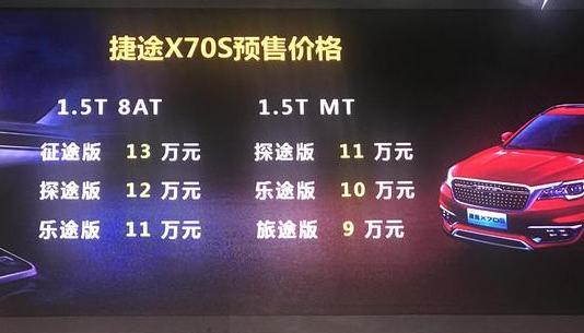 捷途X70S亮相广州车展 预售价9-13万元