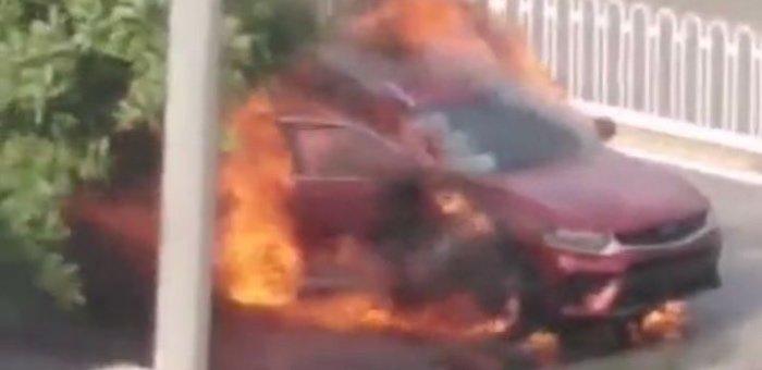 吉利星越提车刚上路即自燃 原因仍在调查