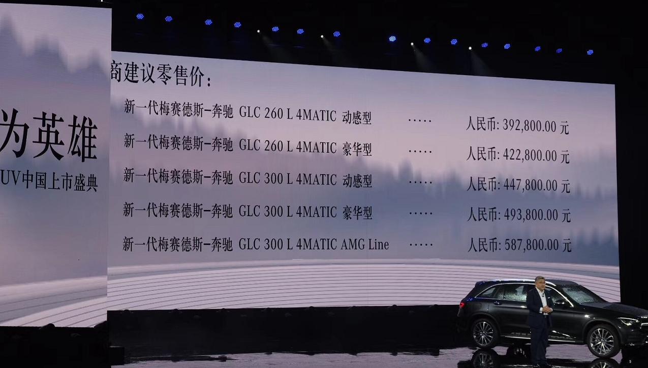 车价网:新一代奔驰GLC L上市 售价39.28-58.78万元