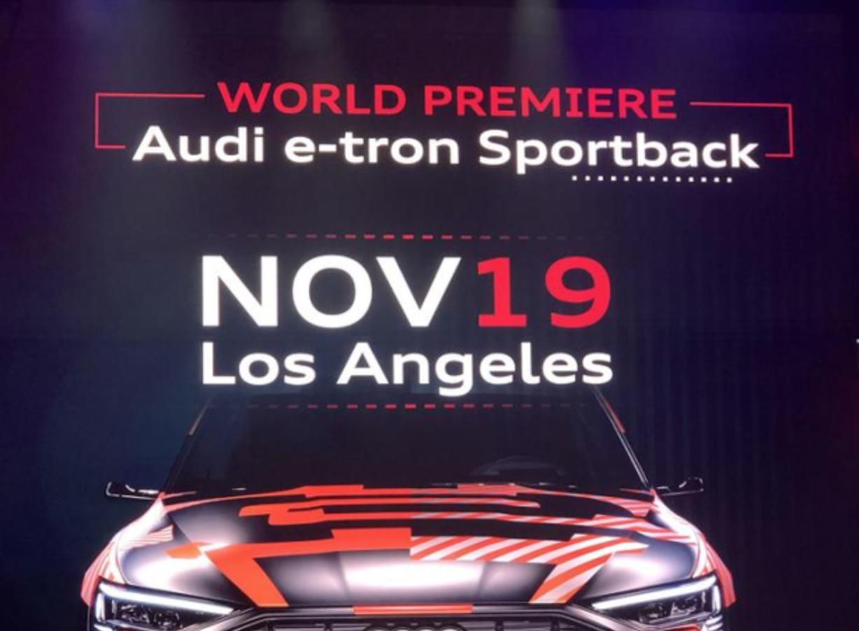 新车报价:奥迪e-tron Sportback 11月19日洛杉矶首发