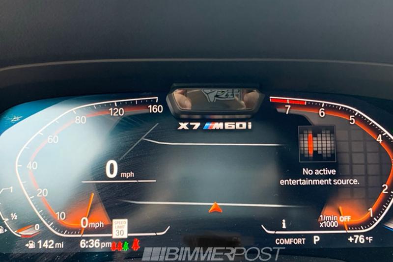 车价查询:将搭载V12发动机 宝马X7 M60i仪表盘曝光