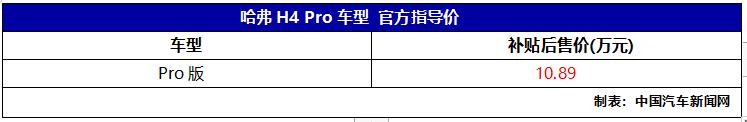 车价查询:全新哈弗H4 Pro正式上市 售价10.89万元