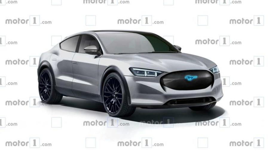 福特跨界电动SUV概念车Mach E 或将11月亮相