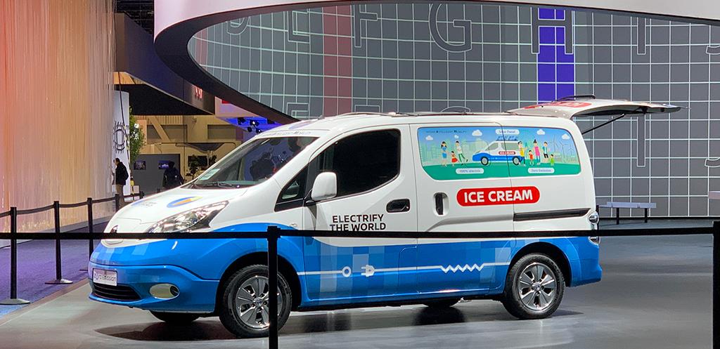 采用纯电驱动 日产e-NV200概念车正式发布