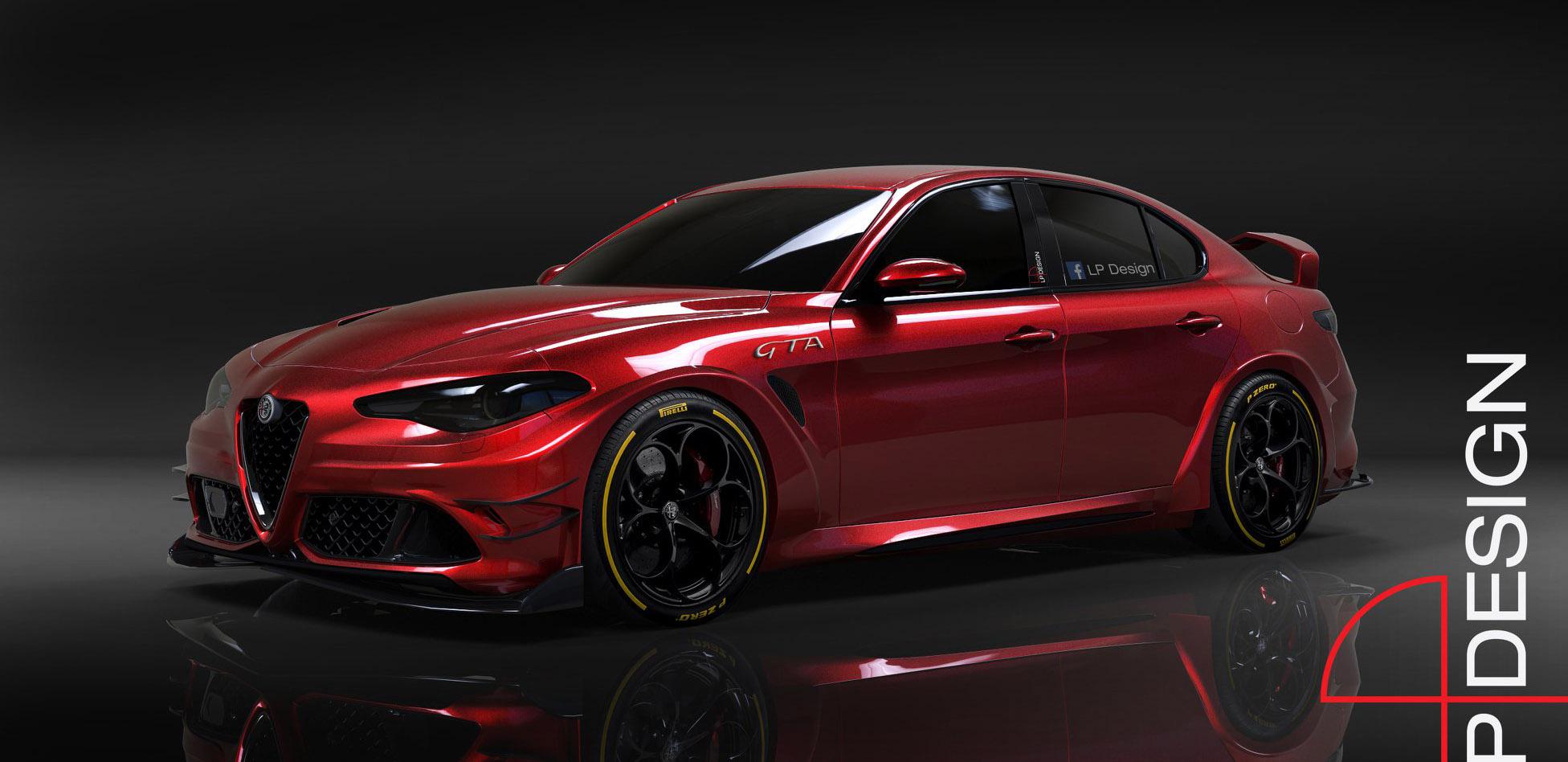 阿尔法·罗密欧Giulia新车型预告图 设计更激进