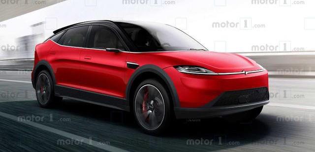 与Vision-S概念车相似 索尼新跨界车渲染图曝光