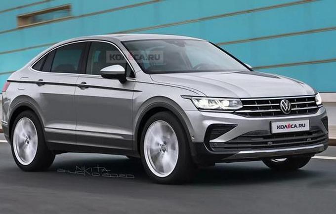 欧冠-或将命名为途观X 大众全新SUV渲染图曝光