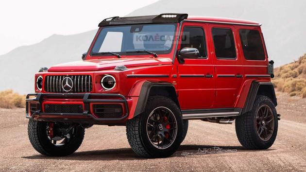 这个红色真靓 奔驰G550 4×4?渲染图曝光-XI全网