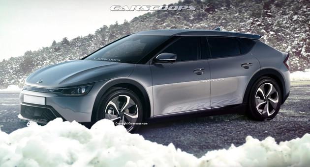 DS设计-堪比保时捷Taycan 起亚电动SUV渲染图曝光