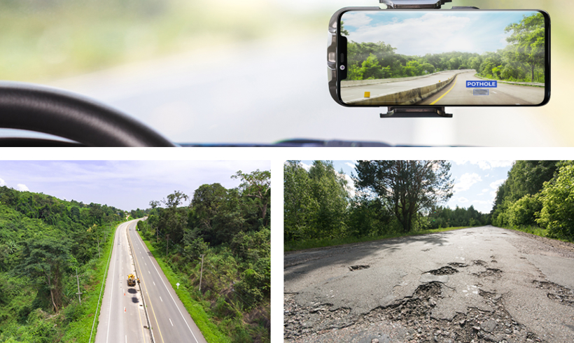黑科技,前瞻技术,AI软件,探测道路坑洞,路面坑洞